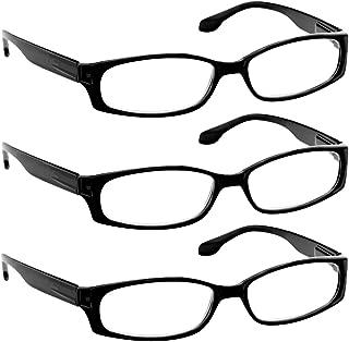 Reading Glasses for Women and Men - Best Designer 3 Pack of Readers Spring Hinge…