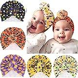 Hifot Sombreros Halloween Sombrero Turbante Bebe Suave Gorra Beanie Turbante Nudo Gorra Diadema para Recién Nacidos Infántil Niñas