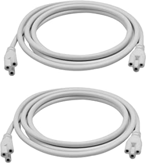 (2-Pack)T5 T8 LED Lamp Connecting Wire ,Double end Connector Cable,Ceiling Lights Daylight LED Integrated Tube Cable Linkable Cords for LED Tube Lamp Holder Socket Fittings with Cables(6.5FT/2M)