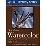 Strathmore (105-904 400 Series Watercolor Artist Trading Cards, Cold Press Surface, 10 Sheets
