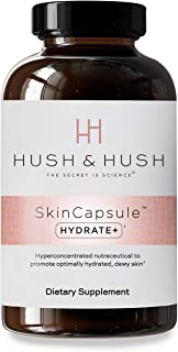 Hush & Hush SkinCapsule HYDRATE+ - Skin Care Beauty Supplement - Promotes Anti-Aging - Glowing Skin with Hy...