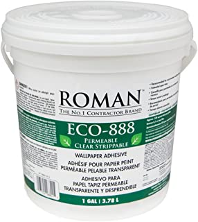 Roman 018801 ECO-888 1 gal Clear Strippable Wallpaper Adhesive