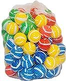 BeachandPool 100 Bälle gestreift für Bällebad, Spielbälle Kunststoffball Spielball Babyball