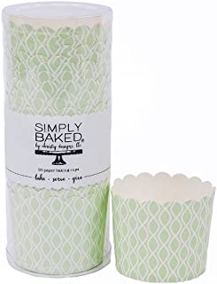 Simply Baked Large Paper Baking Cups Julep Wave 20-Pack Disposable and Oven-safe