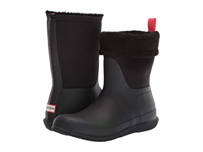 Hunter Original Roll Top Sherpa Snow Boot (Black) Women