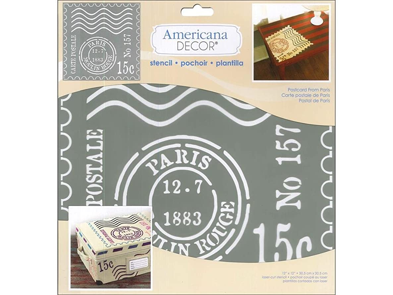 DecoArt Americana Decor Stencil Postcard FromParis