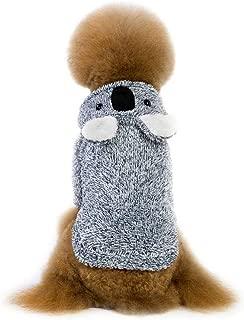Adarl Winter Warm Pet Costumes Soft Fleece Dog Hoodies Coat Colothes Apparel for Puppy Dog Cat
