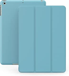 iPad Mini 1 2 & 3 Case – DUAL Blue Cover with Rubberized back and Smart Feature..