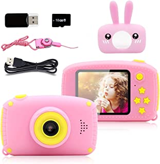Seckton Toys for 3-6 Year Old Girls Kids Camera HD 1080P Digital Camera for Kids Video Recorder Cameras Cartoon Camcorder ...