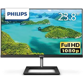 PHILIPS モニターディスプレイ 241E1D/11 (23.8インチ/IPS Technology/FHD/5年保証/HDMI/D-Sub/DVI-D/フレームレス)