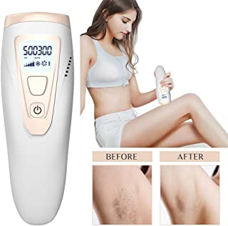Facial & Body Permanent Hair Removal, Permanent IPL Hair Removal Device for Women and Men, Permanent Hair Removal Device, 500,000 Flashes IPL Hair Removal System for Face and Body at Home
