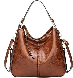 Leorealko Women's Purse Leather Handbag Lady Shoulder Bag Cowhide Tote for Women