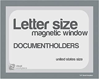 Magnetic Document Holder, Letter incl Cut Out, Gray, Pack of 5