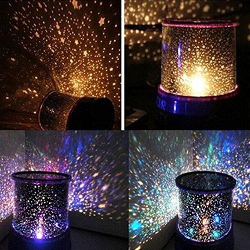 Bestland LED stjärna nattlampa projektor färgglad stjärnlampa för sovrum inomhus (rosa, blå, lila utseende blandade)