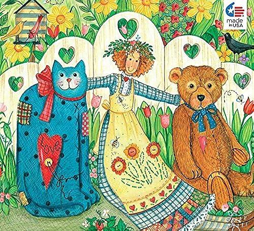 Ellen Stouffer Girl and Friends Jigsaw Puzzle