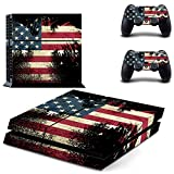 UUShop USA Flag America Flag Vinyl Skin Decal Cover for Sony Playstation 4 PS4 Console Sticker The Stars and...