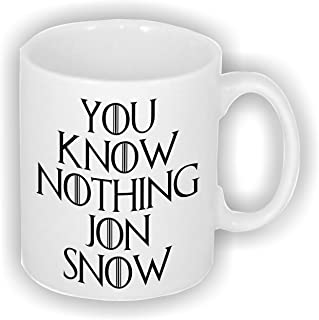 De Juego de Tronos con texto no sabes nada Jon nieve 11 oz taza de cerámica. Ideal para noche reloj ventiladores!