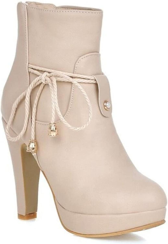 Autunno   Inverno nuovo stivalino Martin stivali a cinghia high-heeled delle sautope da donna Dimensioni 34-42, Nero   Bianco
