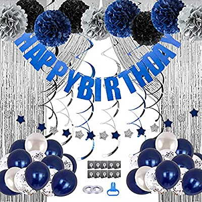 Amazon - 62% Off on Birthday Decorations Men Blue Birthday Party Decorations for Men Women