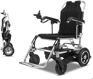 ZHANGYY Silla de Ruedas eléctrica, Silla de Ruedas portátil Plegable Ligera, Adecuada para sillas de Ruedas Inteligentes para Ancianos y discapacitados, Peso 100 kg (batería de Litio 13AH)