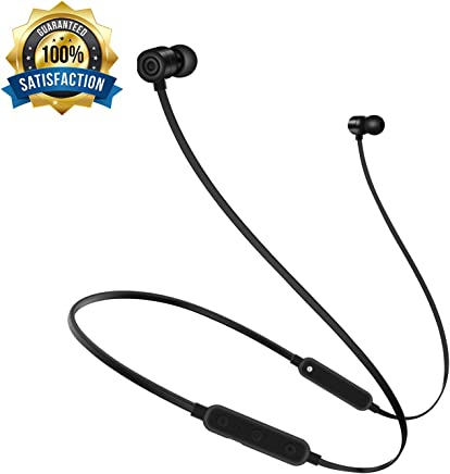 Bullker Upgrade 2018 Bluetooth Earphones, Neckband Bluetooth Headphones, Magnetic Wireless Earphones Without Pain Suitable for All Ears, Ultra-Long Play Music Time Sports Earphones for iOS/Android