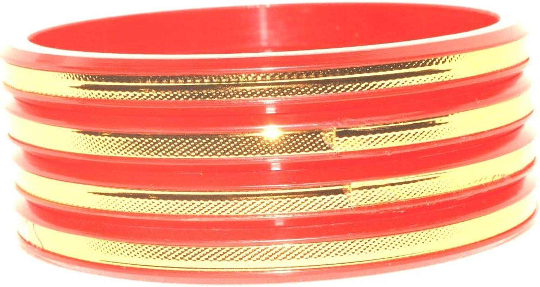 Efulgenz Fashion Jewelry Indian Bollywood Gold Acrylic Resin Wedding Bridal Bracelet Bangle Set