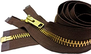 ZipperStop Wholesale Authorized Distributor YKK 24 Extra Heavy Duty Jacket Zipper (Special Custom) YKK #10 Brass Separatin...