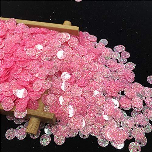 1850pc shimmer poeder sequin pvc platte ronde losse pailletten naaien bruiloft ambachtelijke vrouwen kleding accessoires lentejuelas, roze