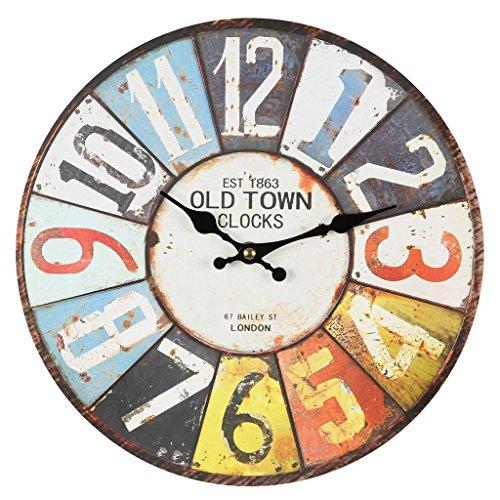 Vieux Town Horloge Murale Coloré 28cm