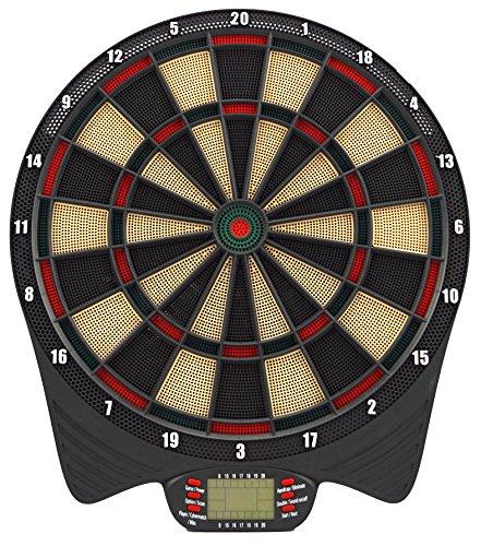 Best Sporting elektronische Dartscheibe York Dartautomat mit 6 Dartpfeilen und Ersatzspitzen, batteriebetriebenes Dartboard