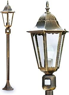 Cour Véranda Jardin Terrasse Lampe Détecteur mvt Extérieur Mur Lampes Marron-Or
