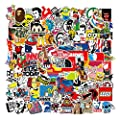 Cool Stickers Decals 106 Pack Random Sticker for Skateboard Helmet Laptop Bicycle Hypebeast Bomb Stickers from Nertpow