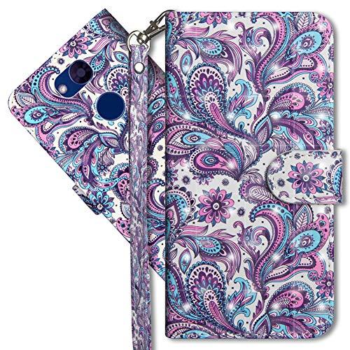 MRSTER LG Xpower 3 Handytasche, Leder Schutzhülle Brieftasche Hülle Flip Hülle 3D Muster Cover mit Kartenfach Magnet Tasche Handyhüllen für LG X Power 3. YX 3D - Peacock Flower