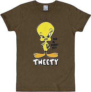 Logoshirt Looney Tunes - Piolin Camiseta Slim Fit - Marrón - Diseño Original con Licencia