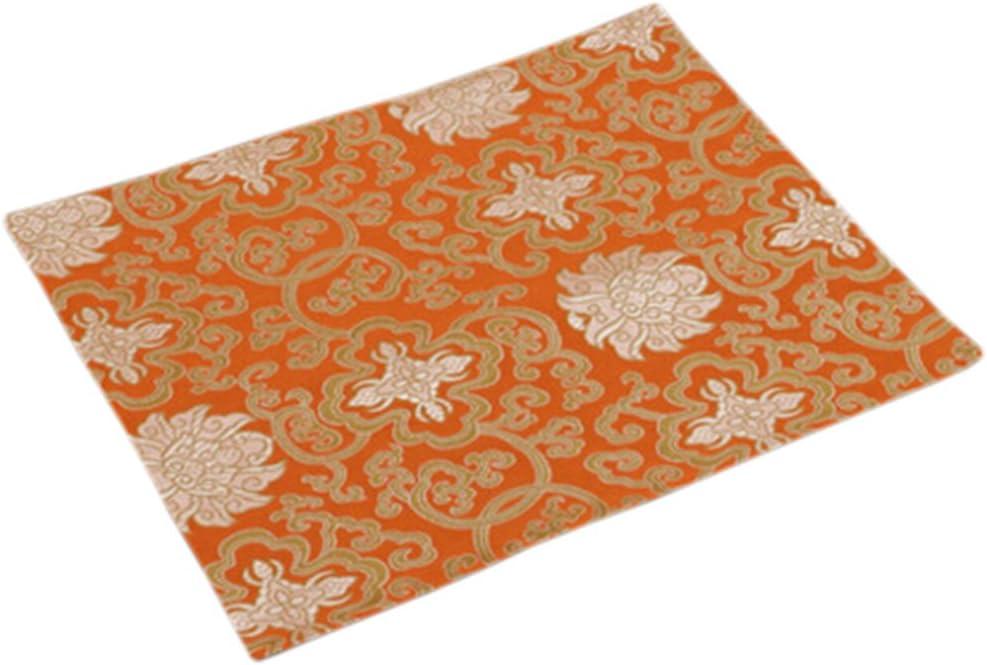 Raleigh Mall Phoenix Wonder Set of 4 Table Mats Orange Linens Place-mat Large discharge sale