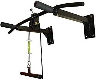 IBS Home Gym Pull up Bar with Top Pulley Solid Fitness Gym Accessories (Color- Black)