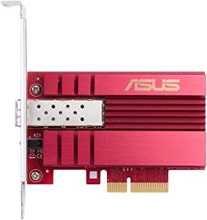 Asus 10Gbps Gigabit Ethernet PCI Express, Network Adapter PCIe 2.0/3.0 X4 SFP+ Network Card/Ethernet Card Support Fiber Op...