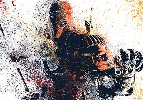 AMtxkj Comic Supervillano Deathstroke,pósteres Pintura de la Pared La impresión de la Imagen en la Fotos Decoración Moderna del del Interior-50X70CM-No Frame