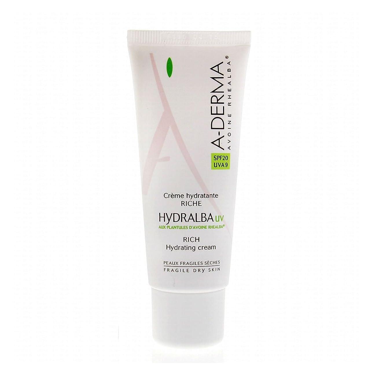 神民主主義魂A-derma Hydralba Uv Rich Hydrating Cream 40ml [並行輸入品]