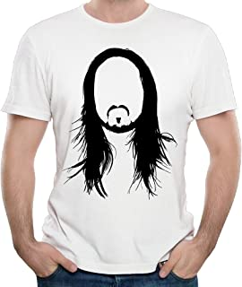 Fitted Steve Aoki Face Art Logo Tshirts For Man