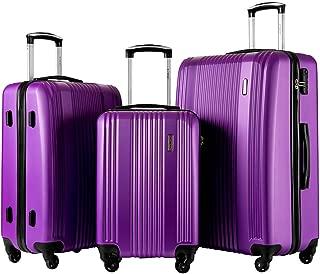 Luggage Set 3 Piece Set Suitcase set Spinner Hard shell Lightweight…