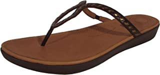 Women Strata Whipstitch Leather Thong Sandals