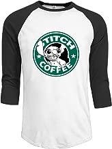Duola Men's Baseball T Shirt Cartoon Character Starstich Black