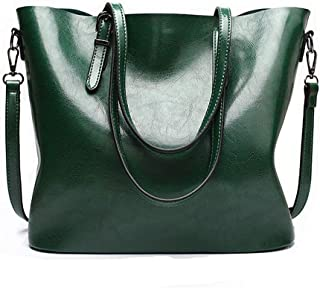 fashion Women PU Leather Bucket Bag business Purses Tote...