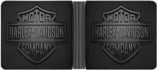 Harley Davidson POWR - Cartera de piel sintética para hombre, diseño minimalista