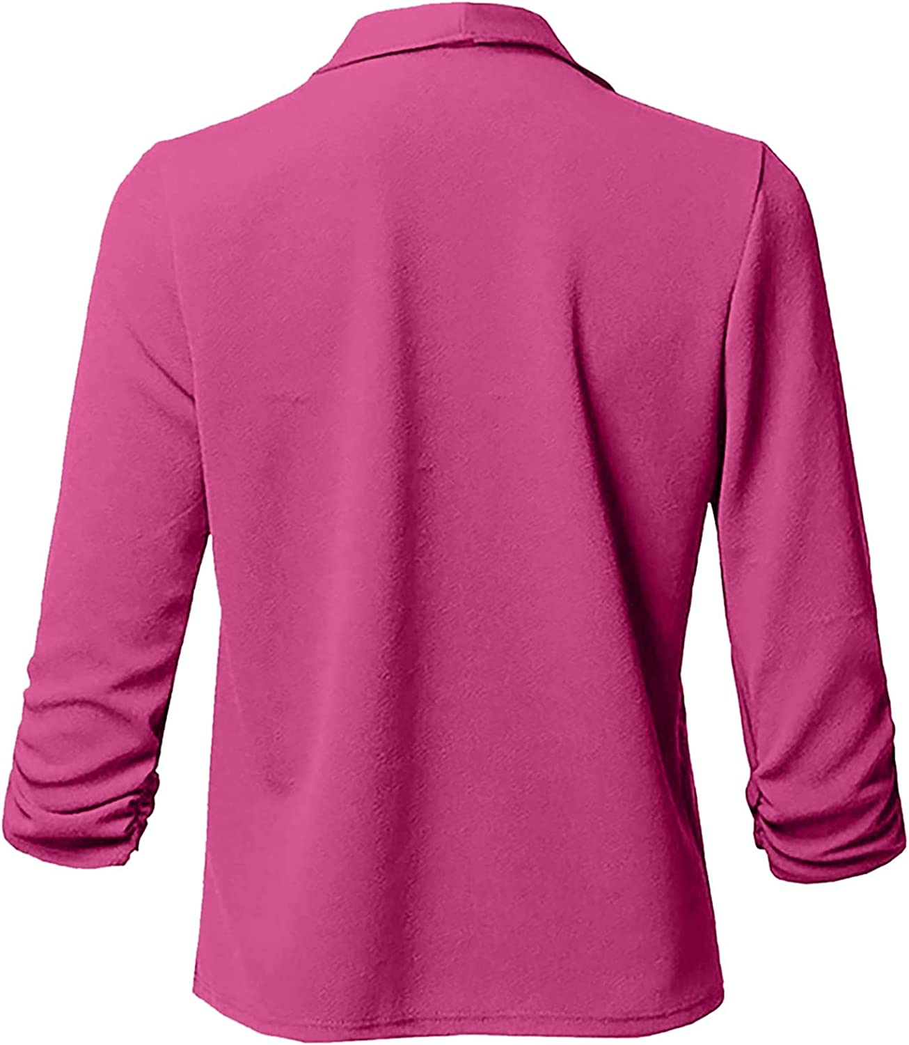 VonVonCo Fashion Womens Long Sleeve Tops Pure Color Pure Open Overcoat Front Cardigan Long Sleeve Casual Jacket Coat