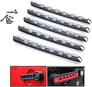 per Je-ep Wrangler JK XuBa colore: Rosso Set di 5 maniglie per porta laterale in alluminio