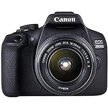 Canon EOS 2000D Kit 18-55mm IS II SLR Camera Black