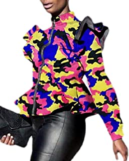 Women Lightweight Long Sleeve Military Jacket Coat Bomber Jacket Outfit