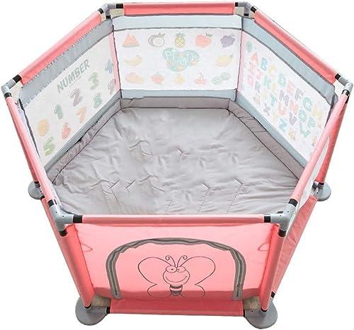 liquidación hasta el 70% QTDH Parque Infantil - - - Hexágono - Parque Infantil De 6 Paneles - Pluma De Juego De Seguridad para Bebés - para Bebés, Juegos De Interior Y Al Aire Libre  el mas de moda